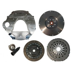 Adapter Plate Kit - 12V/24V to 2003-2010 6.0L/6.4L Diesel ZF-6, Includes South Bend Clutch Kit